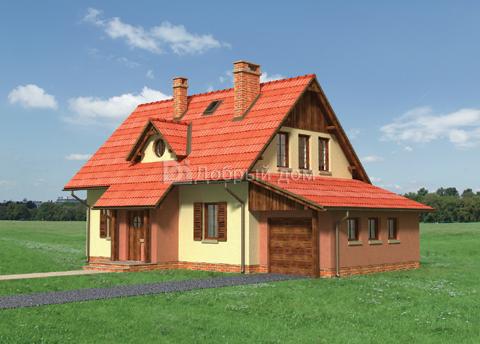 Дом 13,7×8,9 м. с двускатной крышей