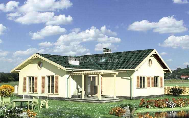 Дом 15,8×13,4 м. с четырехскатной крышей