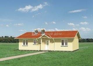 Дом 12,8×9,5 м. с двускатной крышей