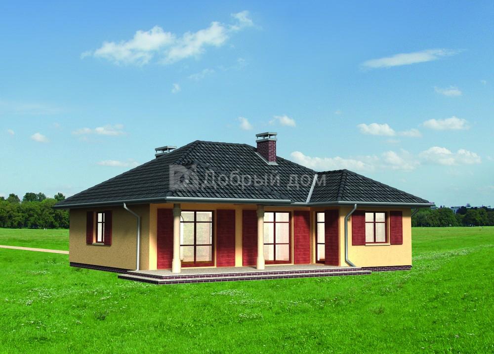 Проект дома 12,2×11,6 м. с четырехскатной крышей