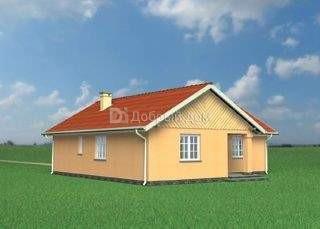 Дом 12,8×12,5 м. с двускатной крышей