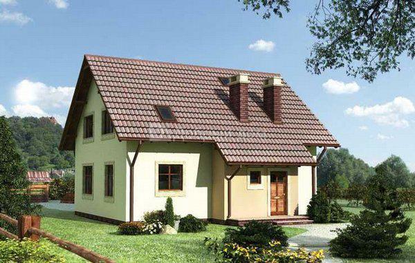 Дом 10,4×9,8 м. с двускатной крышей
