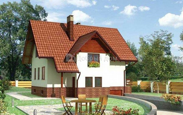 Проект дома 10,1×9,8 м. с мансардной крышей