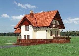Дом 10,1×9,8 м. с мансардной крышей