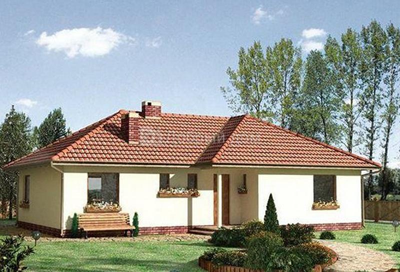Дом 14,5×13 м. с четырехскатной крышей