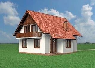 Проект дома 10,4×10,4 м. с двускатной крышей