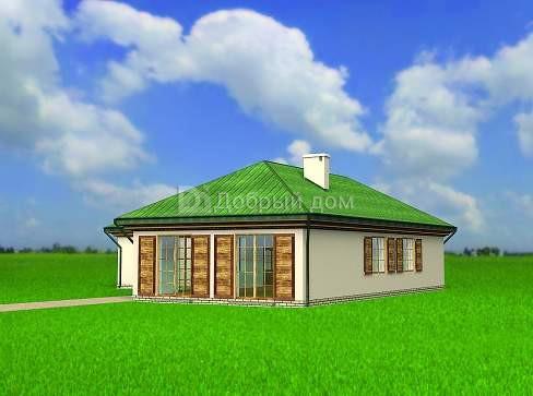 Проект дома 16,7×16,3 м. с четырехскатной крышей