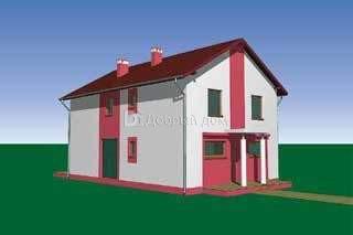 Проект дома 12,5×8,3 м. с двускатной крышей