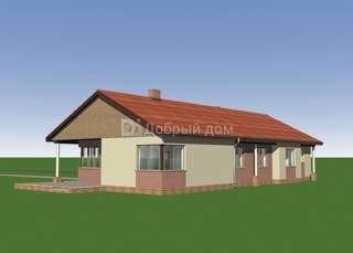 Дом 20,3×10 м. с двускатной крышей